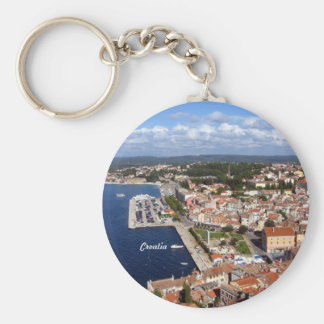 Croatian Skyline Keychain