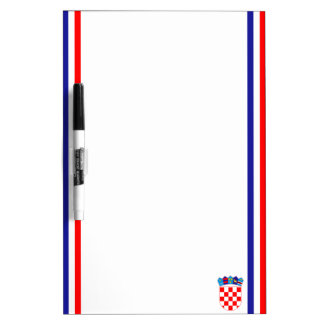 Croatian stripe flag dry erase board
