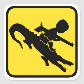 Croc Baby Hazard Square Sticker