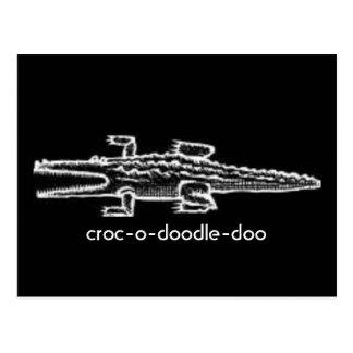 croc-o-doodle-doo postcard