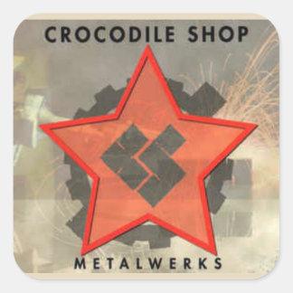 CROC SHOP Metalwerks Square Sticker