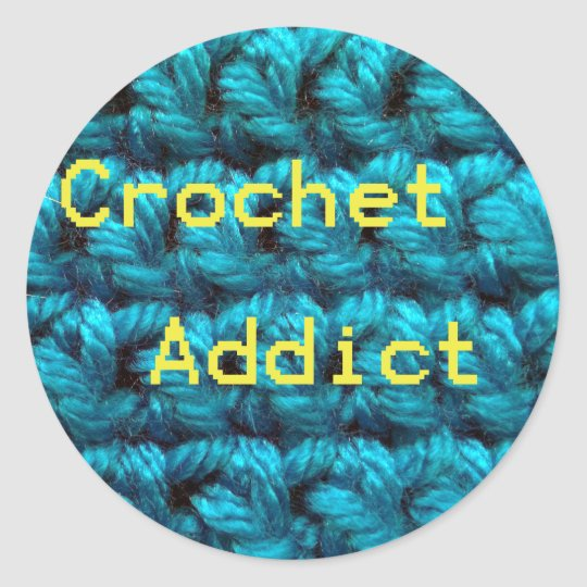 Crochet Addict Part2 Double Crochet Classic Round Sticker