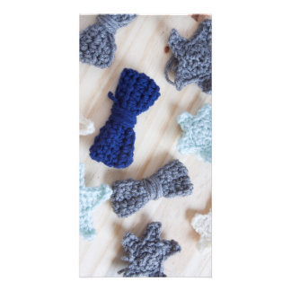 Crochet Bows and Stars Photo Card Template