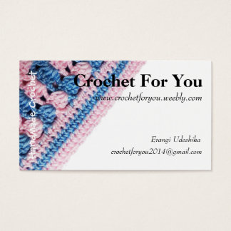 Crochet business card with Real crochet texture