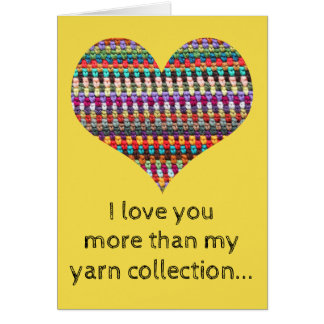 Crochet Card - Heart Crochet Greeting Card