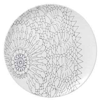 Crochet Design Plate