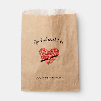 Crochet Hooked with Love Yarn Heart Crafts Favour Bag