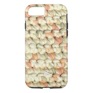 Crochet in pastel colors, abstract pattern. iPhone 7 case