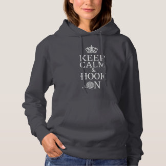 Crochet • Keep Calm + Hook On Crafts {Dark} Hoodie
