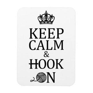 Crochet Keep Calm Hook On Crafts Magnet