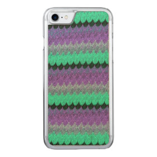 Crochet Knit Purple Mint Black Lilac Waves Scallop Carved iPhone 8/7 Case