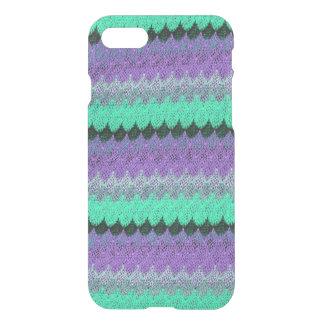 Crochet Knit Purple Mint Black Lilac Waves Scallop iPhone 7 Case
