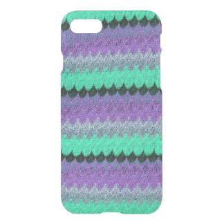 Crochet Knit Purple Mint Black Lilac Waves Scallop iPhone 8/7 Case