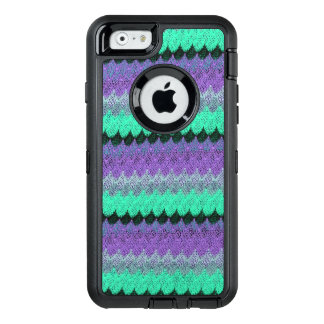 Crochet Knit Purple Mint Black Lilac Waves Scallop OtterBox iPhone 6/6s Case