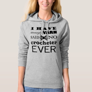 Crochet • Not Enough Yarn Crafts Typography Hoodie