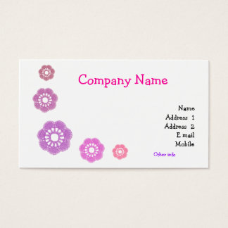 Crochet Simple Business Cards