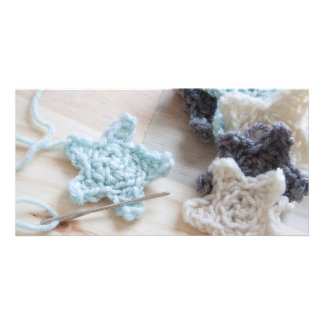 Crochet Stars Customized Photo Card
