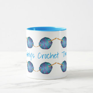 Crochet time, personalised with your name mug