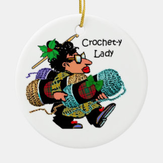 Crochet-y Lady Christmas Ornament