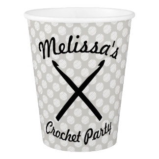 Crochet Yarn Party Crafts Paper Cup