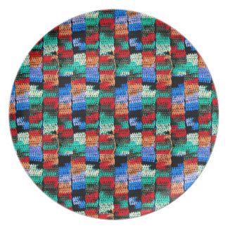 Crocheted Look on Party/Dinner Plate