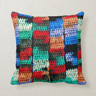 Crocheted Look on Pretty Throw Pillow