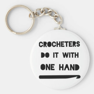 Crocheters do it with one hand keychain