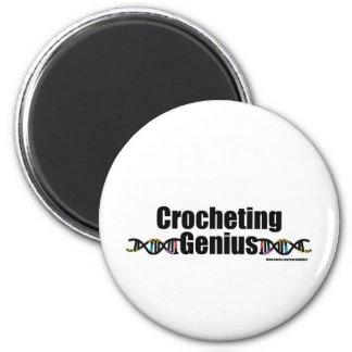Crocheting Genius DNA Merchandise Magnet