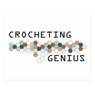 Crocheting Genius Post Card