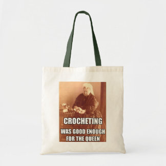 Crocheting: Good Enough for the Queen Budget Tote Bag