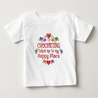 Crocheting Happy Place Baby T-Shirt