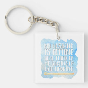 Crocheting Joke Keychain