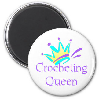 Crocheting Queen T-shirts and Gifts. Magnet