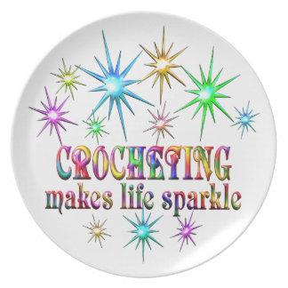 Crocheting Sparkles Dinner Plates