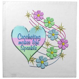 Crocheting Sparkles Napkin