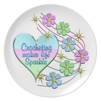 Crocheting Sparkles Plate