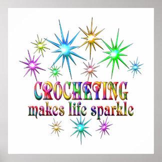 Crocheting Sparkles Poster