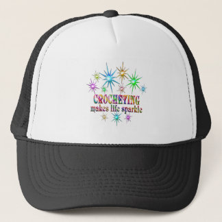 Crocheting Sparkles Trucker Hat