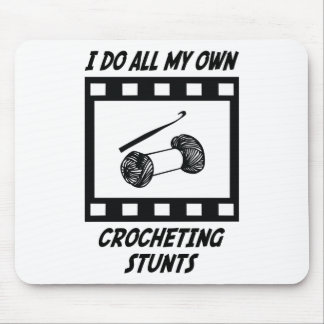 Crocheting Stunts Mouse Pads