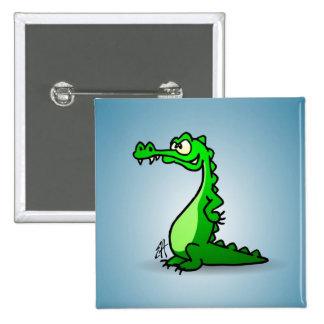 Crocodile 2 Inch Square Button