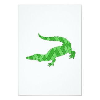 "crocodile 3.5"" x 5"" invitation card"