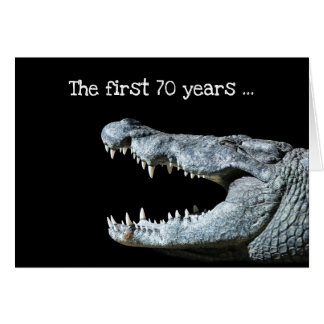 Crocodile 70th Birthday Card