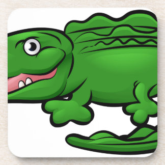 Crocodile Alligator Animal Cartoon Character Coaster