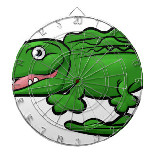 Crocodile Alligator Animal Cartoon Character Dartboard