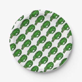 Crocodile Alligator Animal Cartoon Character Paper Plate