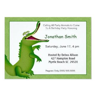 Crocodile/Alligator Birthday Invitation