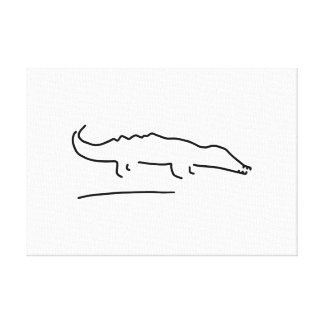 crocodile alligator canvas print