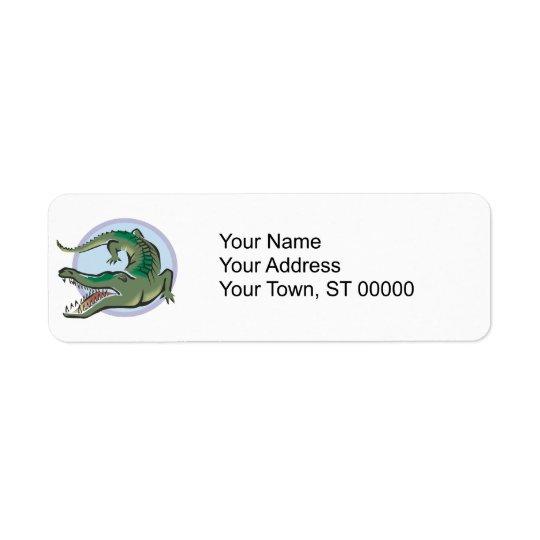 Crocodile/Alligator Circle Design Return Address Label