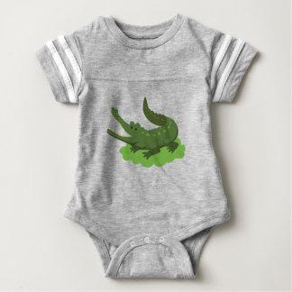 crocodile baby bodysuit