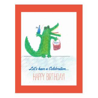 Crocodile Birthday Guest Cartes Postales